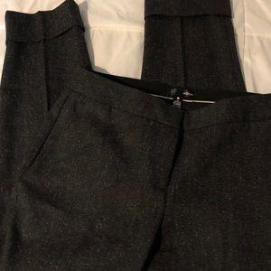 AQUA Brand Salt&Pepper cuffed ankle dress pants